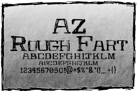 AZ Rough Fart Font