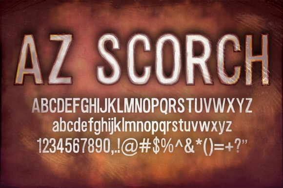 Print on Demand: AZ Scorch Sans Serif Font By Artistofdesign