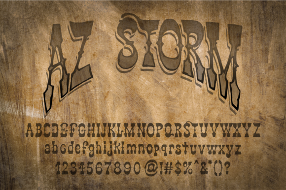 Print on Demand: AZ Storm Slab Serif Font By Artistofdesign