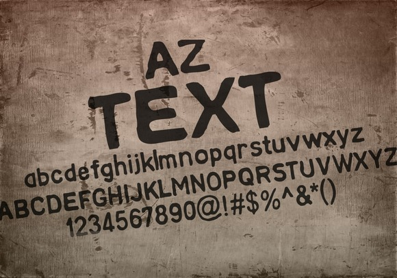 Print on Demand: AZ Text Sans Serif Font By Artistofdesign