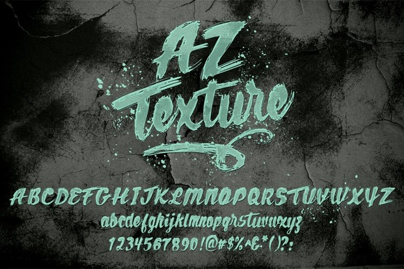 Print on Demand: AZ Texture Script & Handwritten Font By Artistofdesign - Image 1
