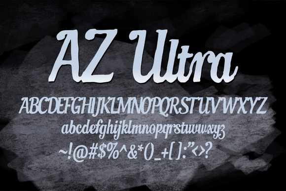 Print on Demand: AZ Ultra Script & Handwritten Font By Artistofdesign