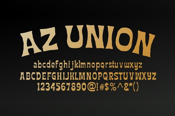 Print on Demand: AZ Union Sans Serif Font By Artistofdesign