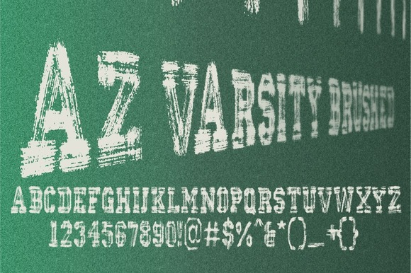 Print on Demand: AZ Varsity Brushed Serif Font By Artistofdesign