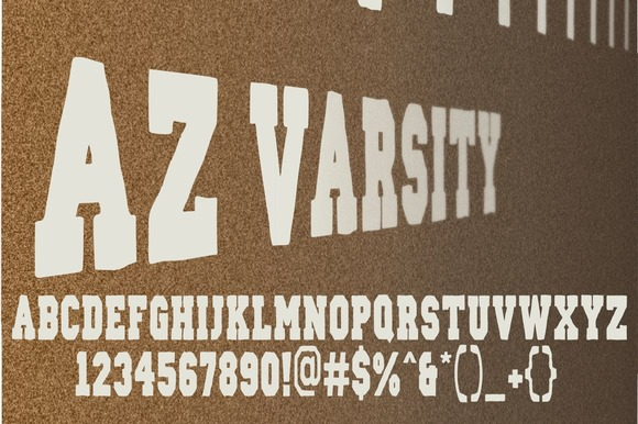 Print on Demand: AZ Varsity Serif Font By Artistofdesign