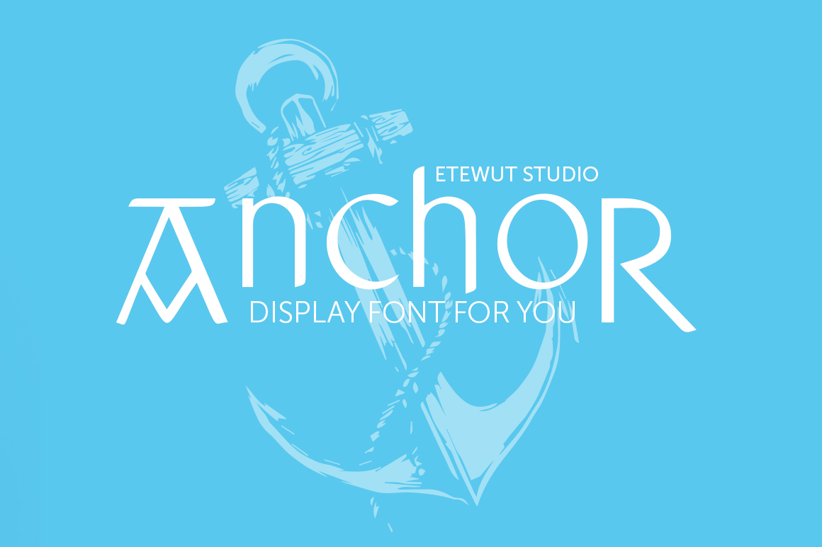 Print on Demand: Anchor Display Font By Etewut