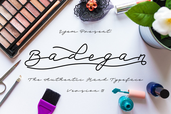 Print on Demand: Badegan Script Script & Handwritten Font By Ijem RockArt