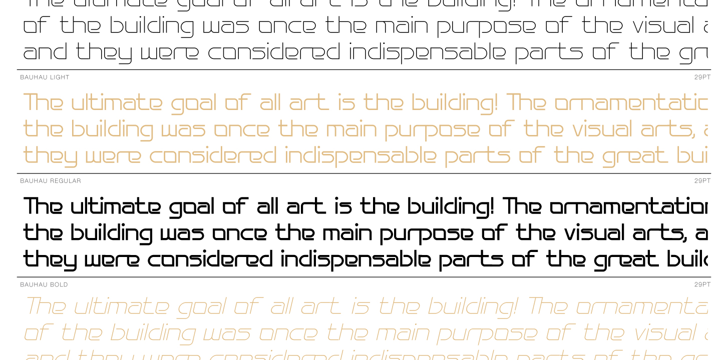 Print on Demand: Bauhau Sans Serif Font By Typogama - Image 3
