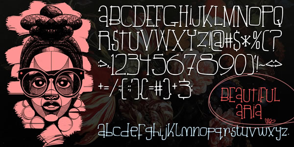 Print on Demand: Beautiful Aria Display Font By TBJ Ohab - Image 1