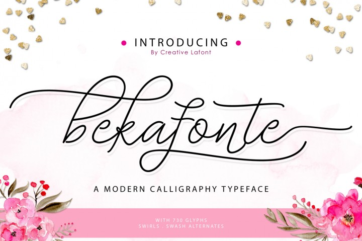 Print on Demand: Bekafonte Script & Handwritten Font By barland