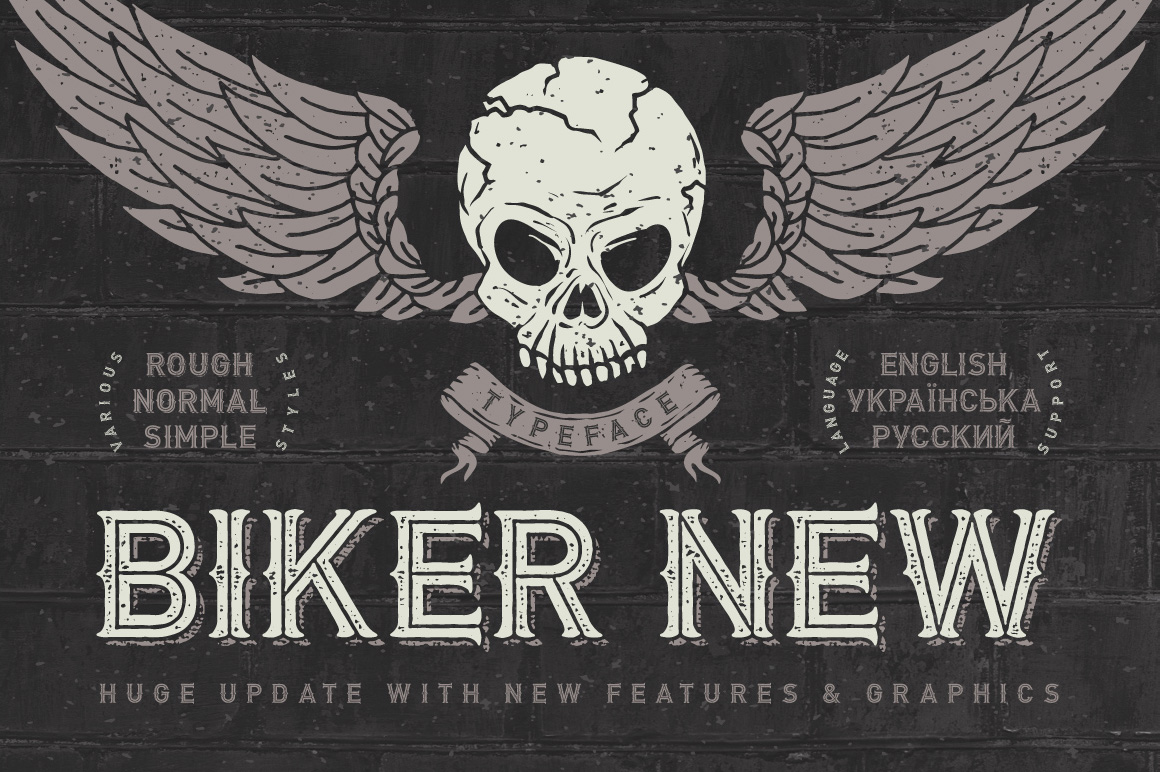 Print on Demand: Biker Display Font By Gleb Guralnyk