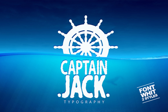 Captain Jack Display Font By SmartDesigns