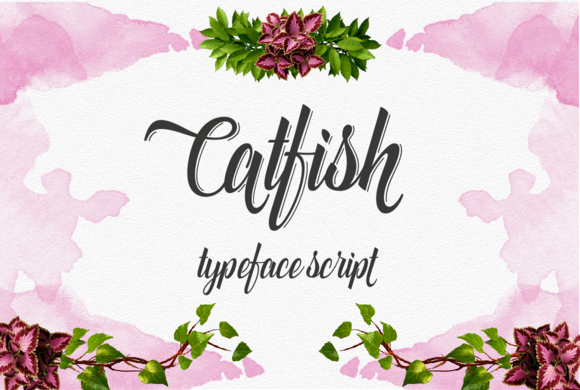 Print on Demand: Catfish Script Script & Handwritten Font By Groens Studio