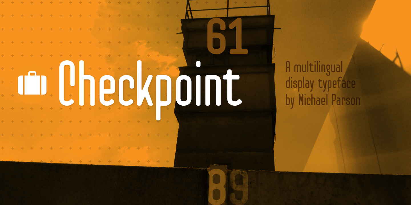 Print on Demand: Checkpoint Display Font By Typogama