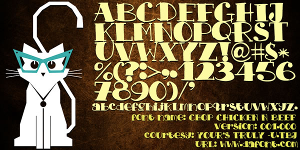 Print on Demand: Chop Chicken N Beef Display Font By TBJ Ohab