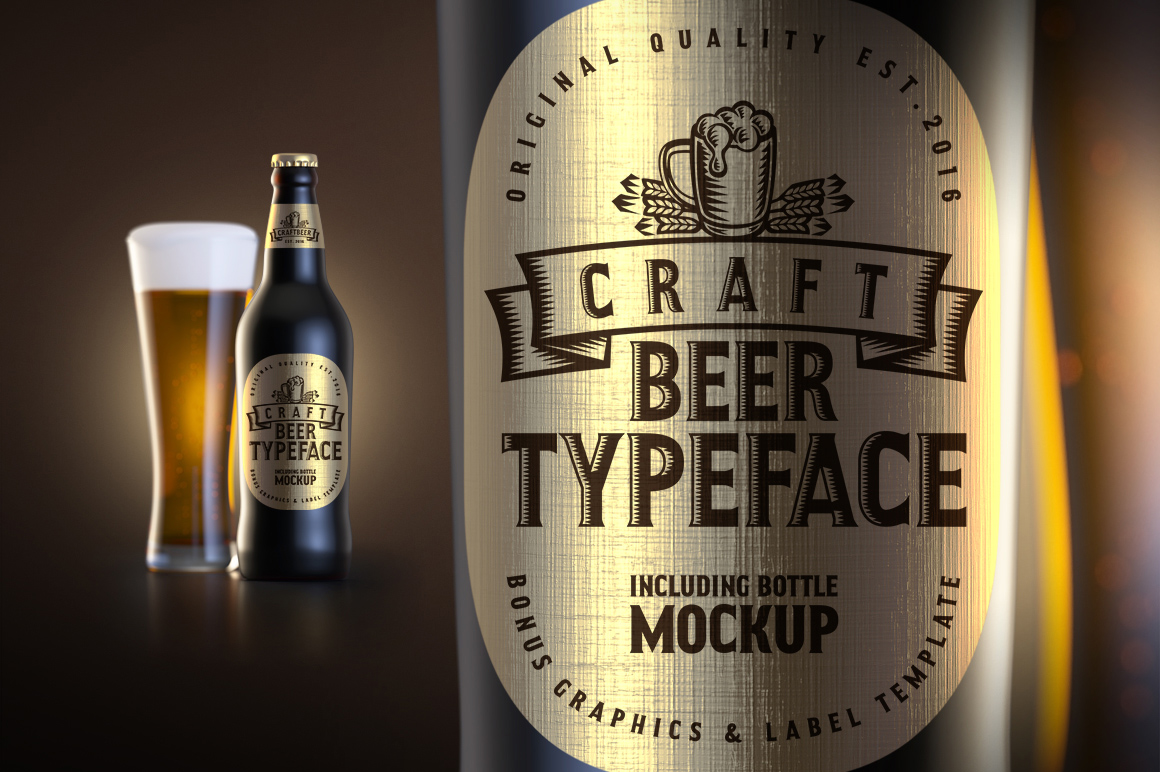 Print on Demand: Craft Beer Display Font By Gleb Guralnyk