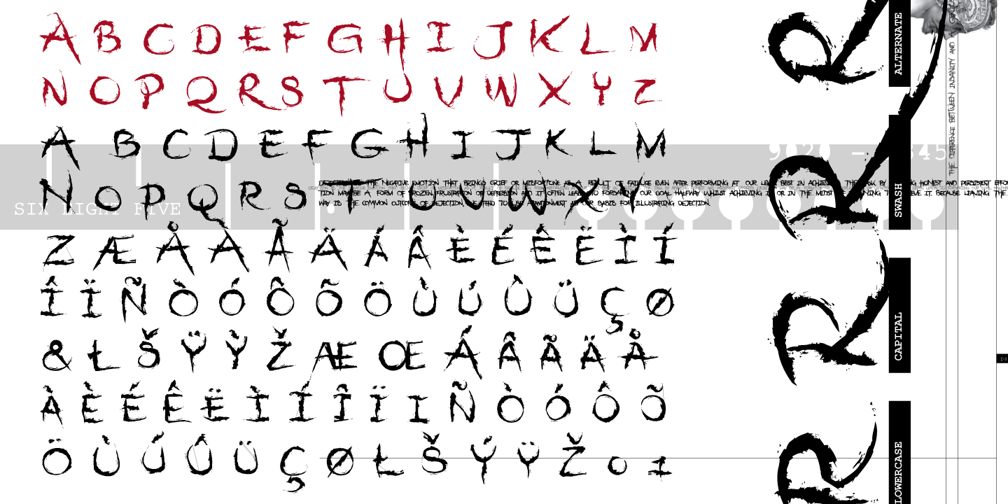 Print on Demand: Dejecta Display Font By Typogama - Image 2