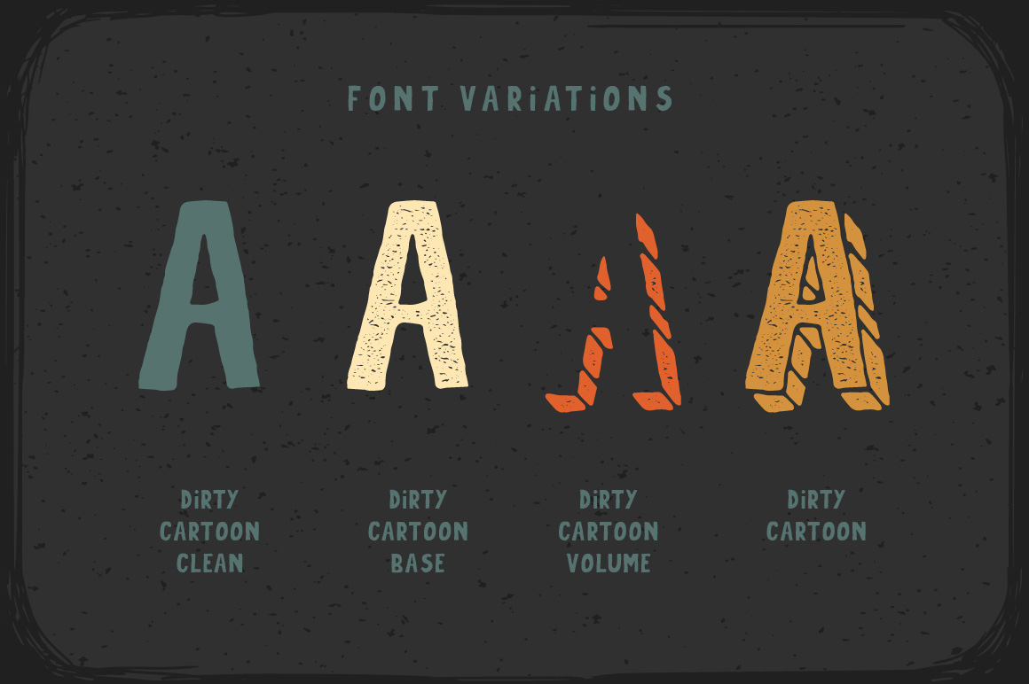 Print on Demand: Dirty Cartoon Display Font By Gleb Guralnyk - Image 3