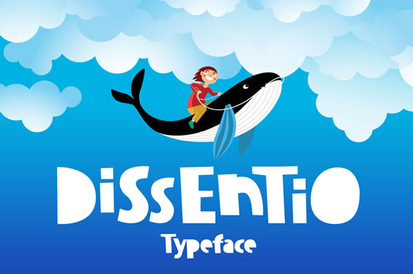 Print on Demand: Dissentio Display Font By ChekArt