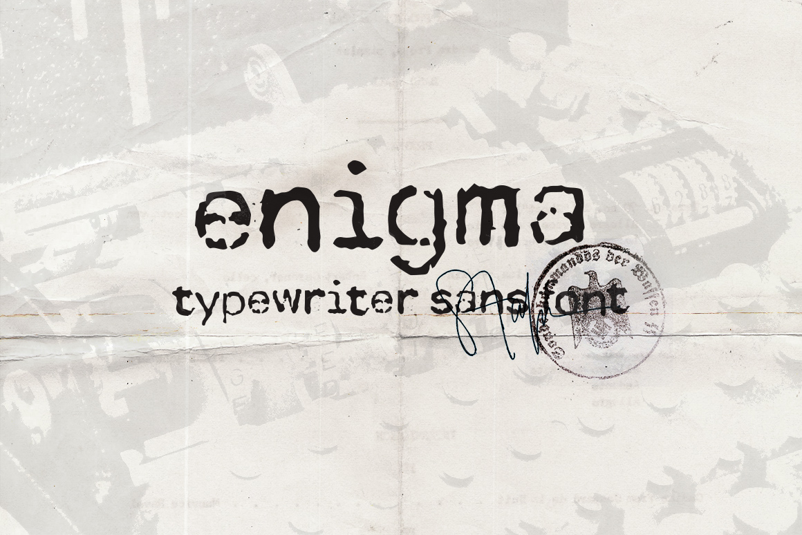 Print on Demand: Enigma Typewriter Sans Display Font By DesignSomething