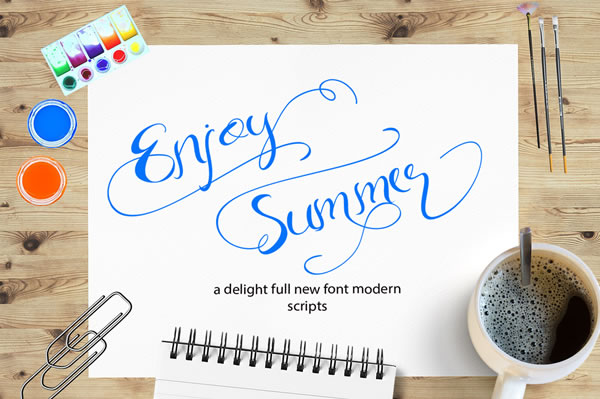 Print on Demand: Enjoy Summer Script & Handwritten Font By YanIndesign