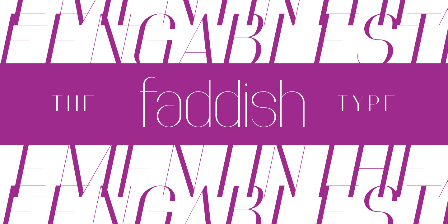 Print on Demand: Faddish Sans Serif Fuente Por Typogama