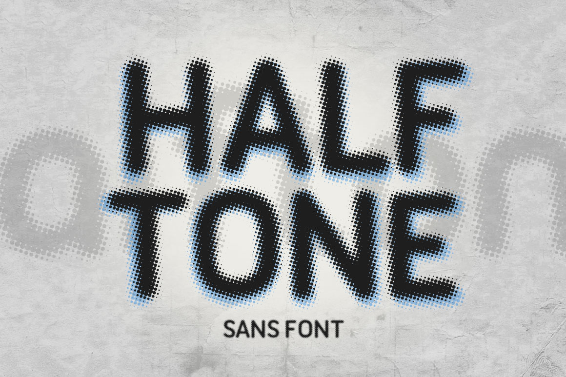 Print on Demand: Halftone Sans Sans Serif Font By DesignSomething - Image 1