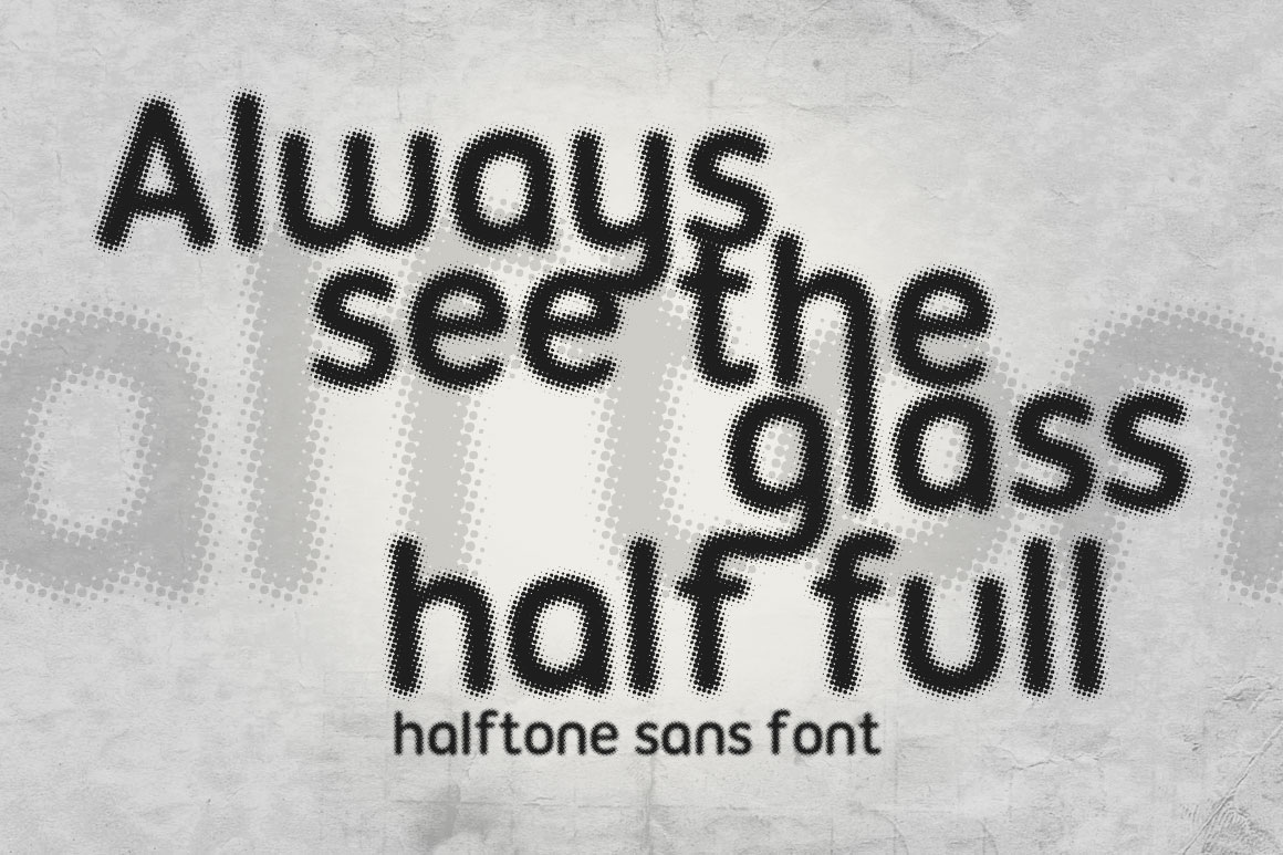 Print on Demand: Halftone Sans Sans Serif Font By DesignSomething - Image 2