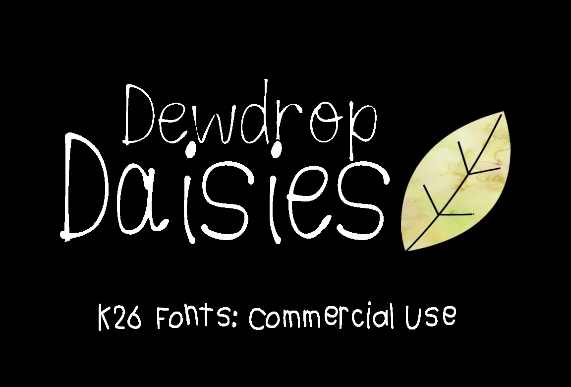 Print on Demand: K26 Dewdrop Daisies Script & Handwritten Font By K26Fonts
