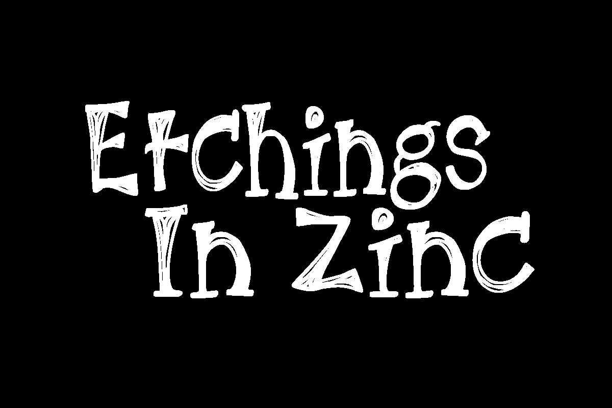 KB3 Etchings in Zinc Display Font By K26Fonts