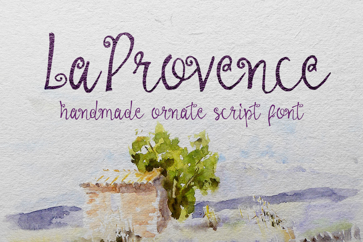 Print on Demand: La Provence Script & Handwritten Font By DesignSomething