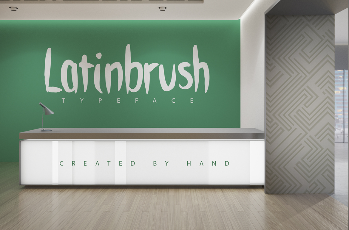 Print on Demand: Latinbrush Script & Handwritten Font By SmartDesigns