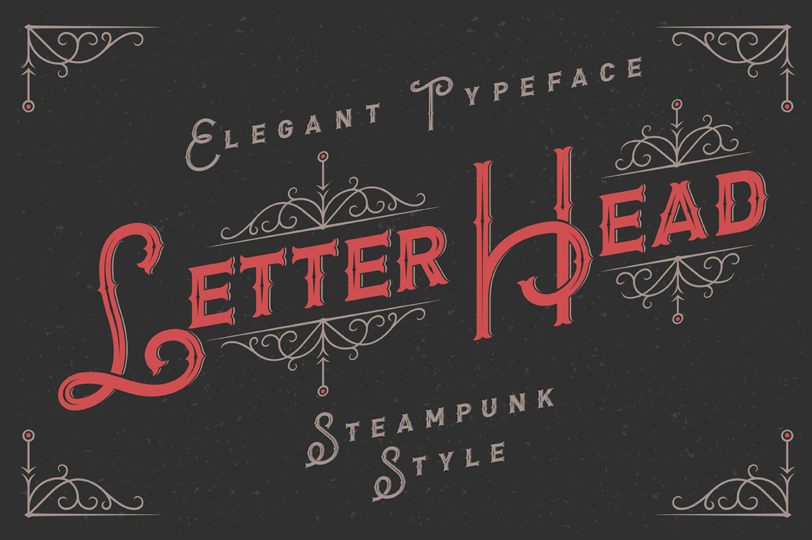 Print on Demand: Letterhead Display Font By Gleb Guralnyk