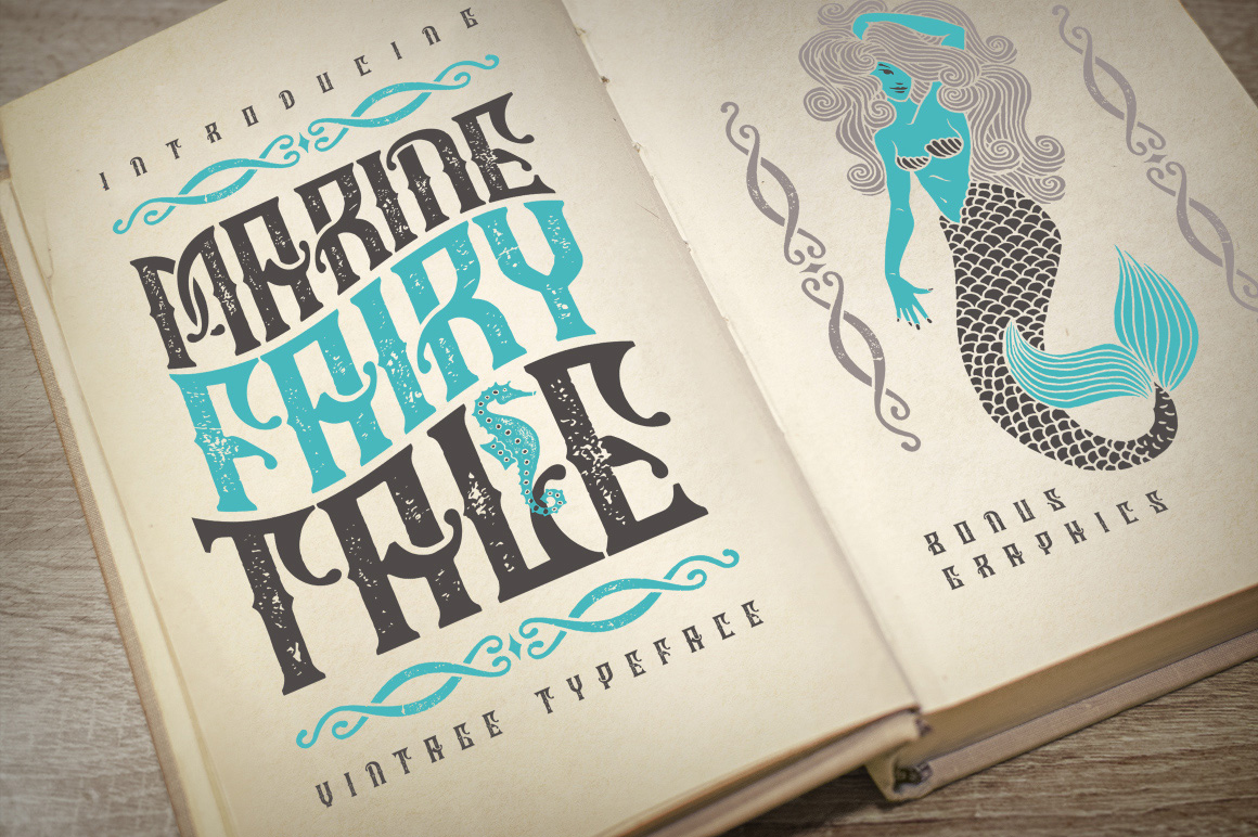 Print on Demand: Marine Fairytale Display Font By Gleb Guralnyk