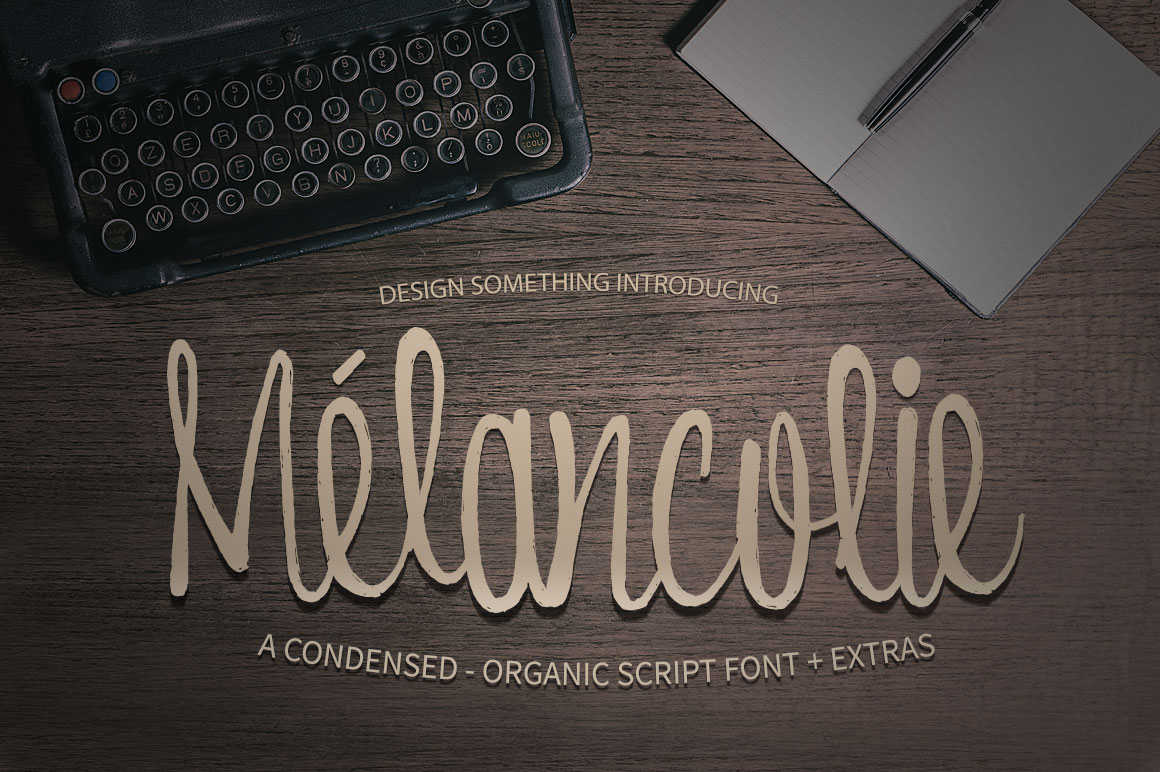 Print on Demand: Melancolie Script & Handwritten Font By DesignSomething