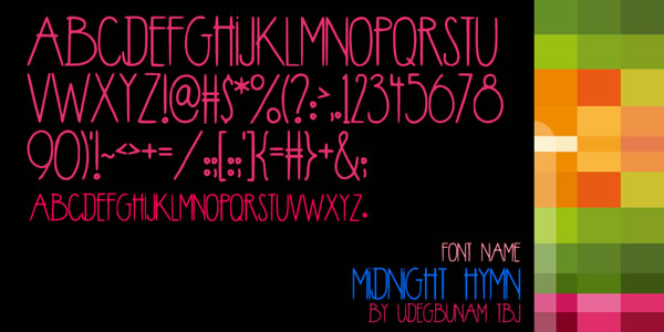 Print on Demand: Midnight Hymn Display Font By TBJ Ohab