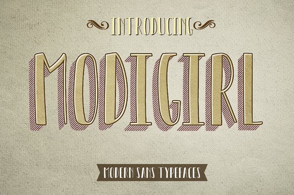Print on Demand: Modigirl Sans Sans Serif Font By Moriztype