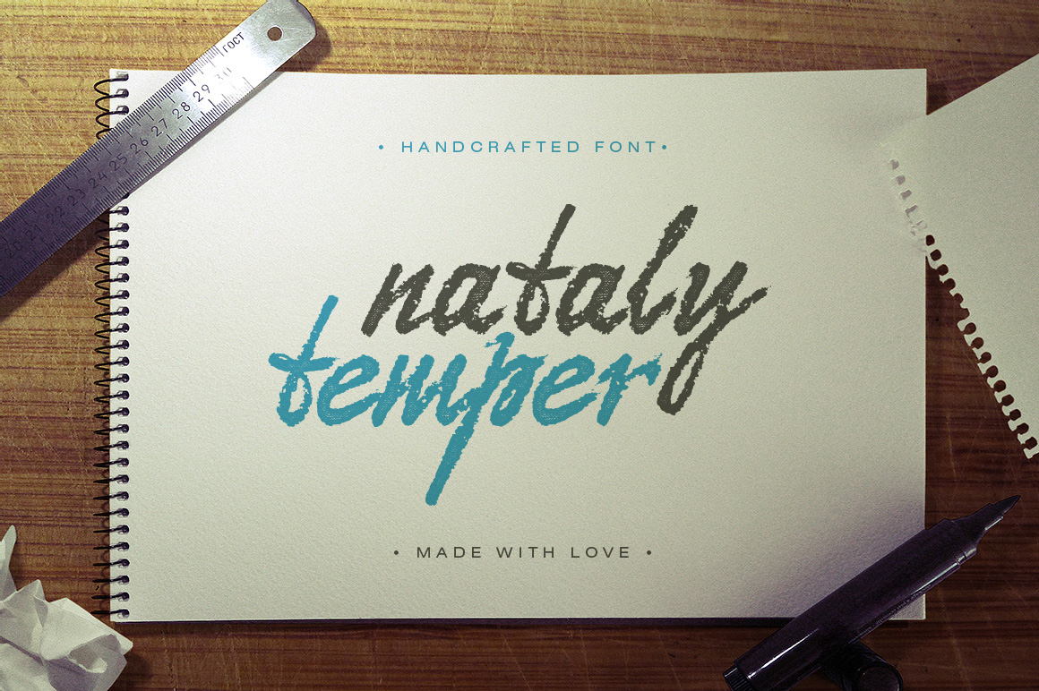 Print on Demand: Nataly Temper Script & Handwritten Font By Gleb Guralnyk
