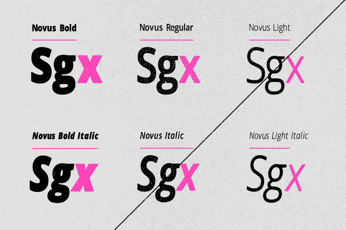 Print on Demand: Novus Sans Sans Serif Font By DesignSomething - Image 2