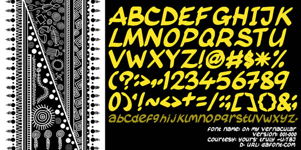 Print on Demand: Oh My Vernacular Display Font By TBJ Ohab