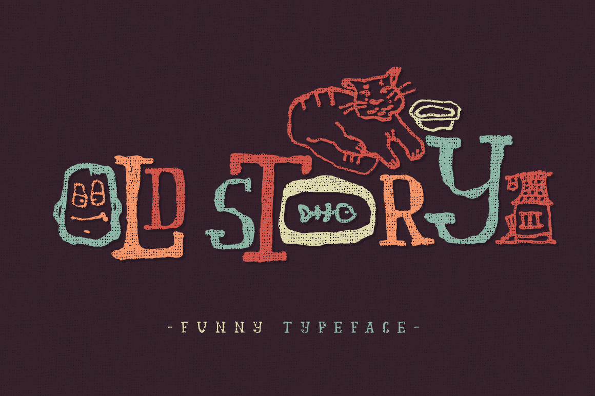 Print on Demand: Old Story Display Font By Gleb Guralnyk