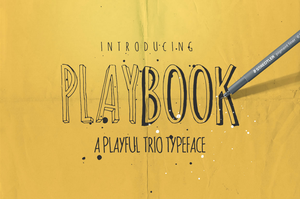 Print on Demand: Playbook Display Schriftarten von DesignSomething