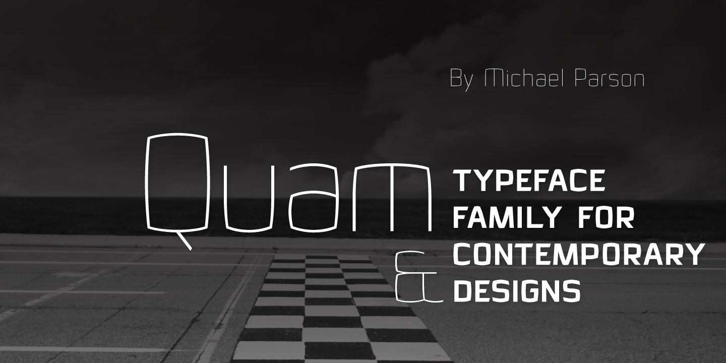 Print on Demand: Quam Sans Serif Font By Typogama