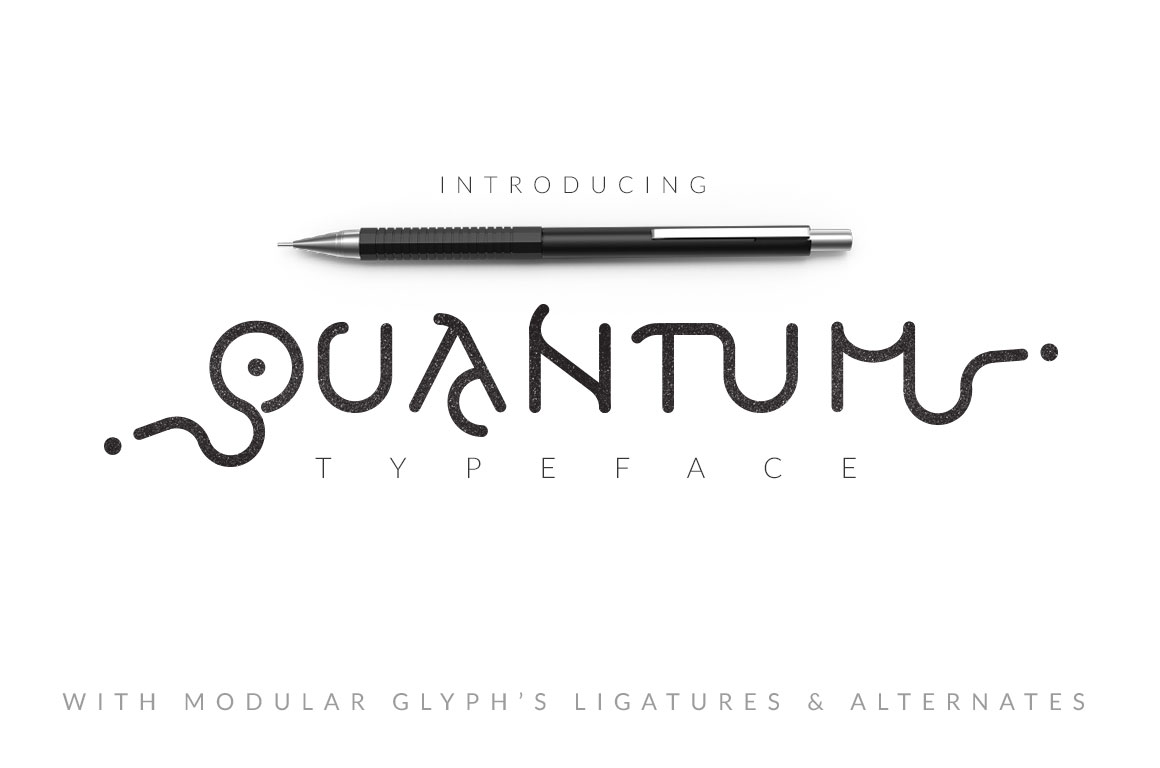 Print on Demand: Quantum Typeface Display Font By DesignSomething