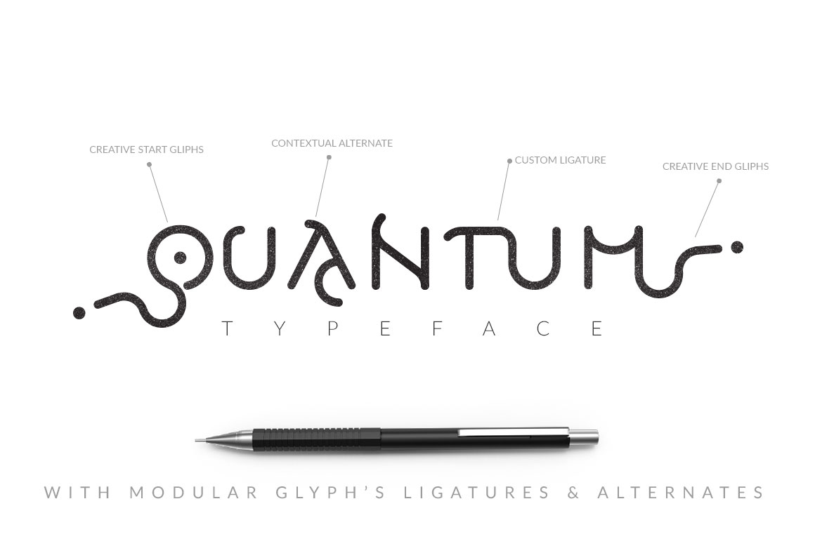 Print on Demand: Quantum Typeface Display Font By DesignSomething - Image 2