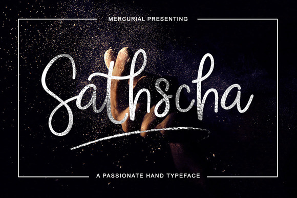 Print on Demand: Sathscha Script & Handwritten Font By Mercurial