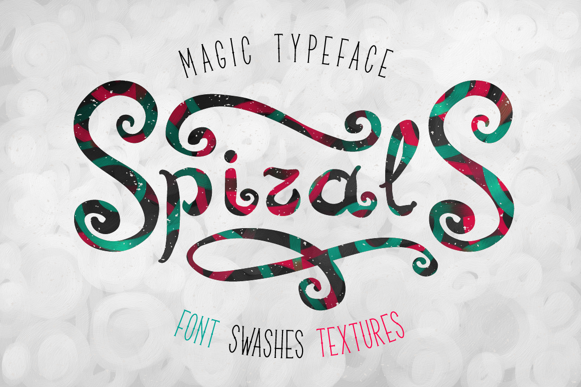 Print on Demand: Spirals Display Font By Gleb Guralnyk
