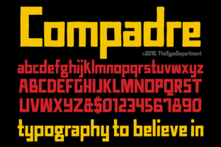 TTD Compadre Display Font By The Type Department