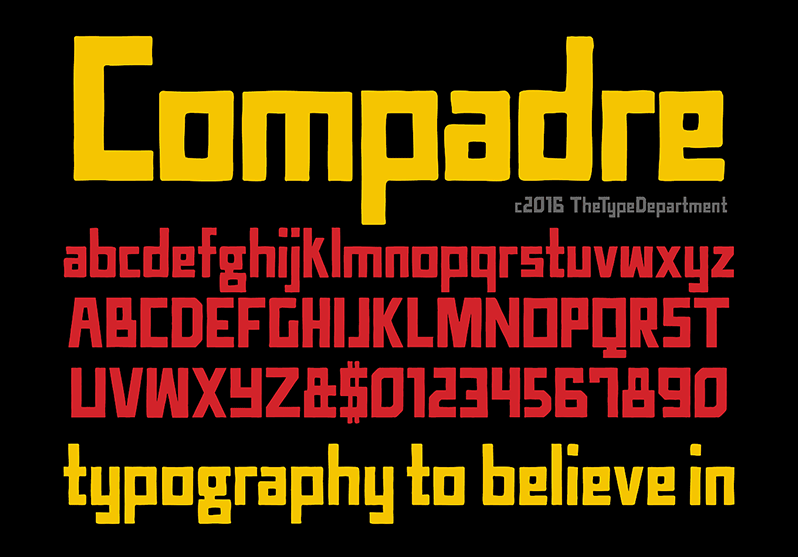 Print on Demand: TTD Compadre Display Font By The Type Department