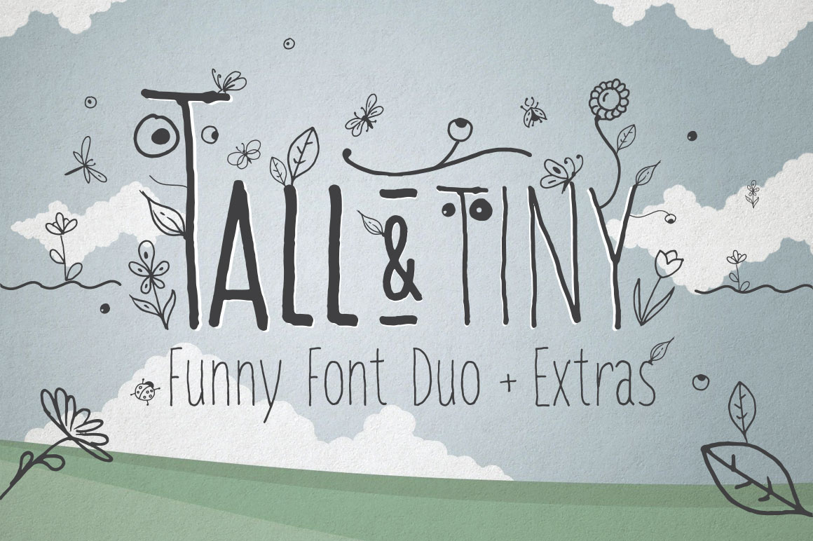 Print on Demand: Tall & Tiny Font Duo Script & Handwritten Font By DesignSomething